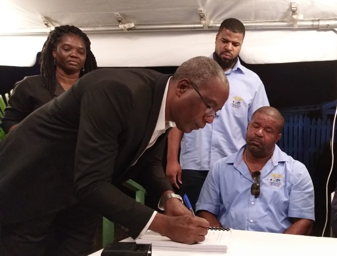 Old Road Rehabilitation Project Contract Signing